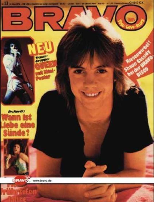 Shaun Cassidy - Bravo Magazine [Germany] (27 March 1976)