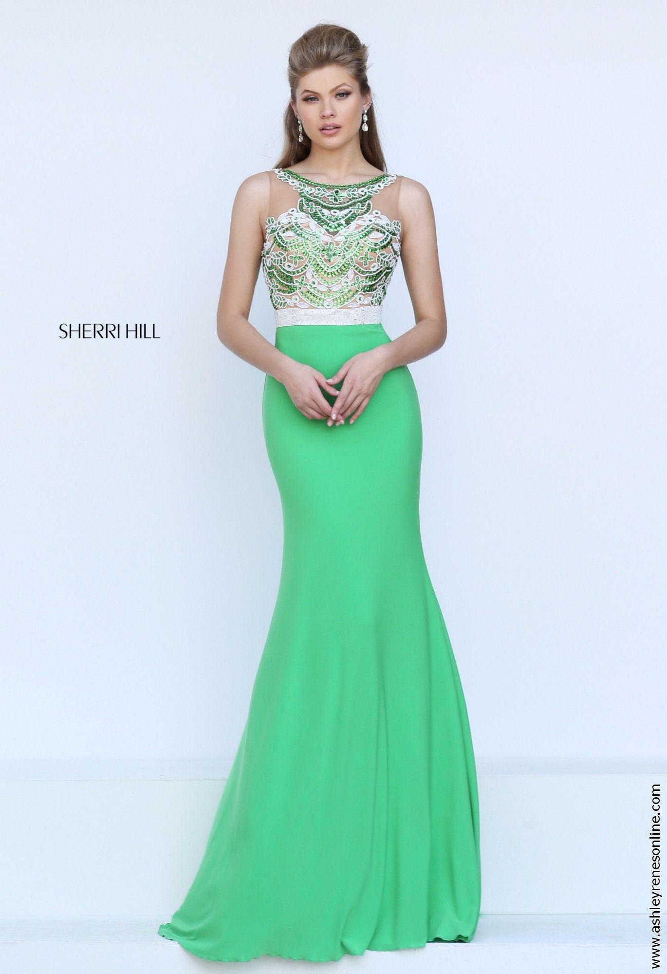 Sherri hill green prom dress prom gorgeous greens pinterest