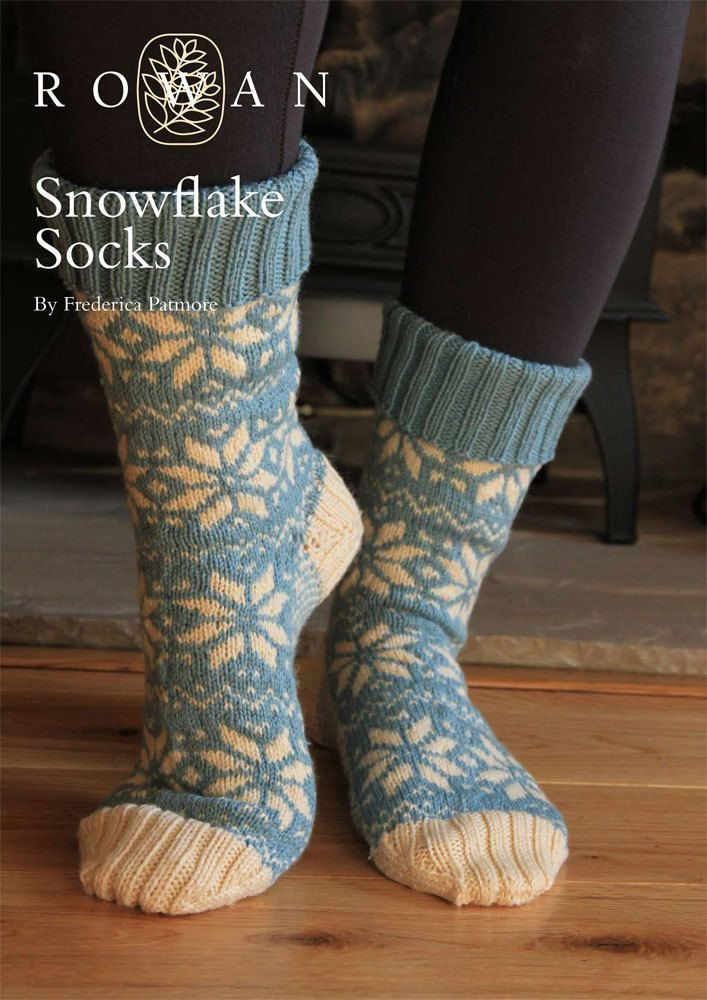 Snowflake Socks in Rowan Pure Wool 4 ply. Discover more Patterns by ...
