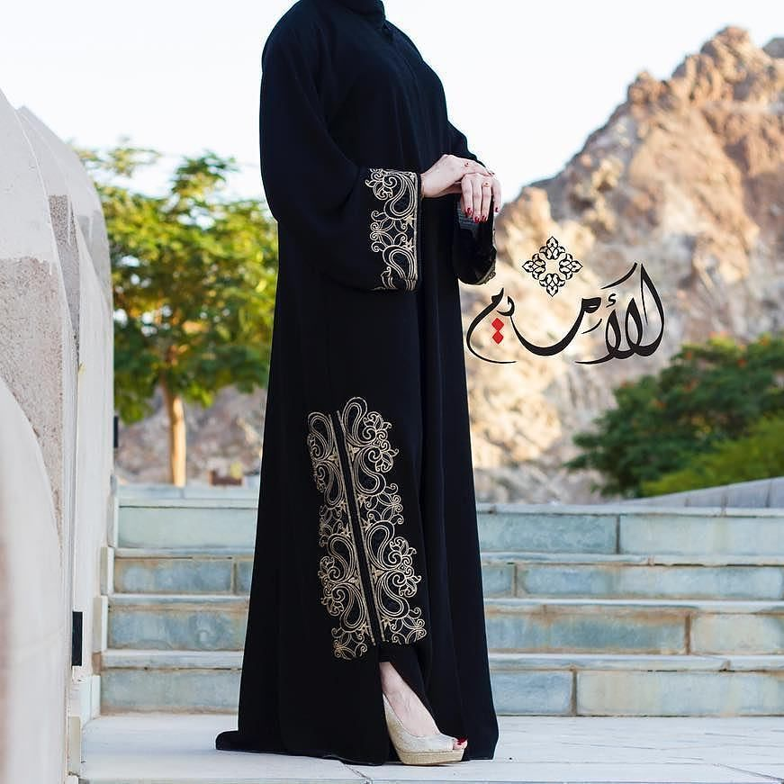 Repost Al Umaim With Instatoolsapp متوفر لدينا عبايات باللون الاسود في البوتيك Available In The Boutique الحسا Abaya Fashion Abaya Designs Hijab Fashion