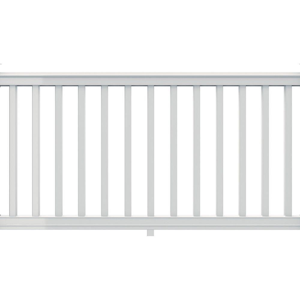 Veranda Premier Series 6 Ft X 36 In White Polycomposite Rail Kit With Square Balusters 73012442 Vinyl Railing Metal Deck Railing White Vinyl