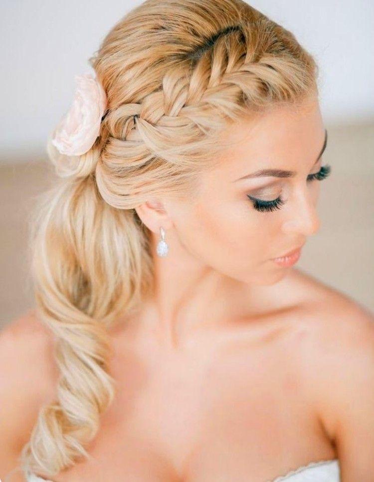 Halboffene Brautfrisur Mit Seitlichem Zopf Hair