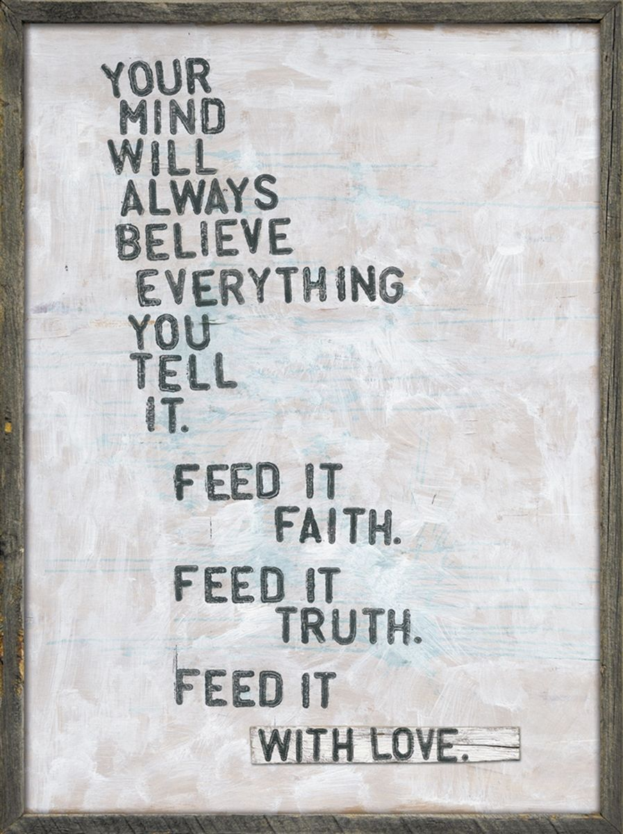 Designer Decor- Faith, Truth & Love Framed Wall Inspirational Art