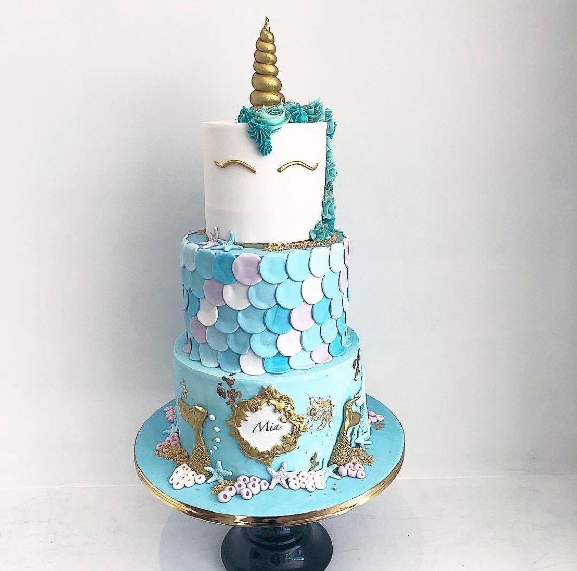 Mermicorn Cake