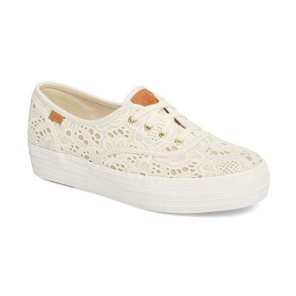 Keds TRIPLE EMROIDERED - Trainers - cream l3SsI