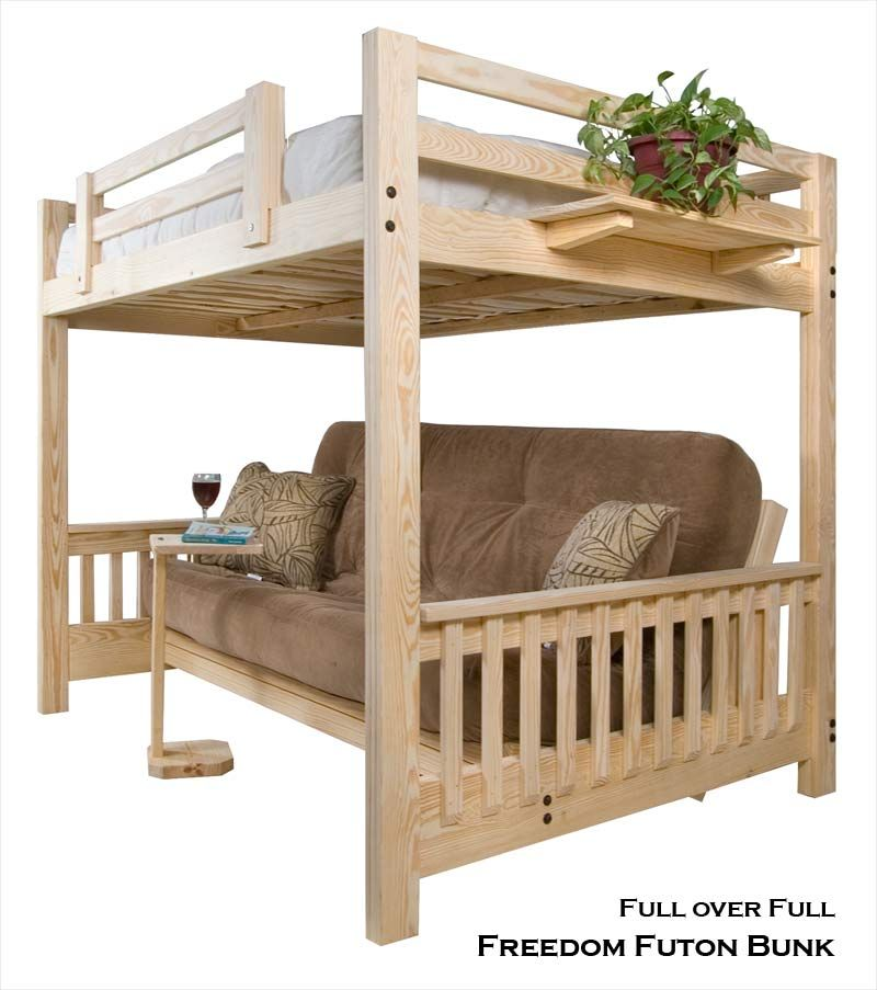 Full Futon Bunk Bed Over