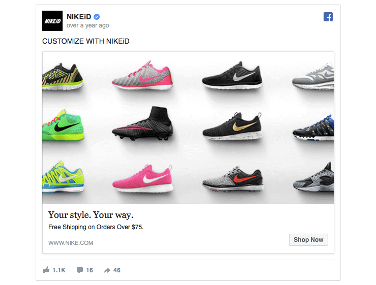 Facebook ad tip Nike | Nike id, Running