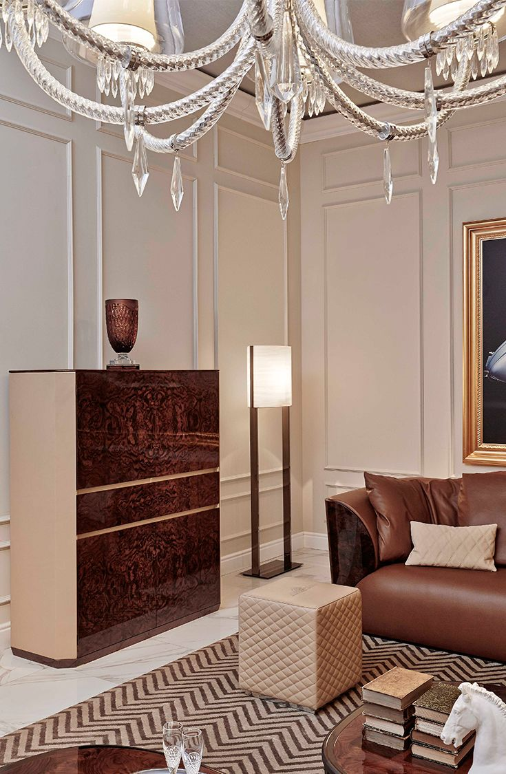 Alton cabinet and Todd ottoman for Bentley Home, September 2014
