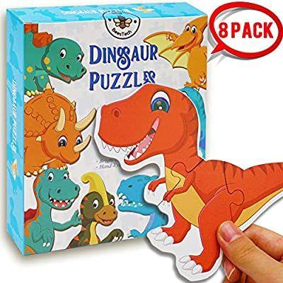 Amazon.com: BEESTECH Beginner Dinosaur Puzzles for 2, 3,4 ...