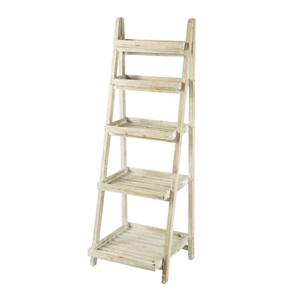 Etagere Echelle Blanchie L 50 Cm Decorations Wood Ladder Shelf