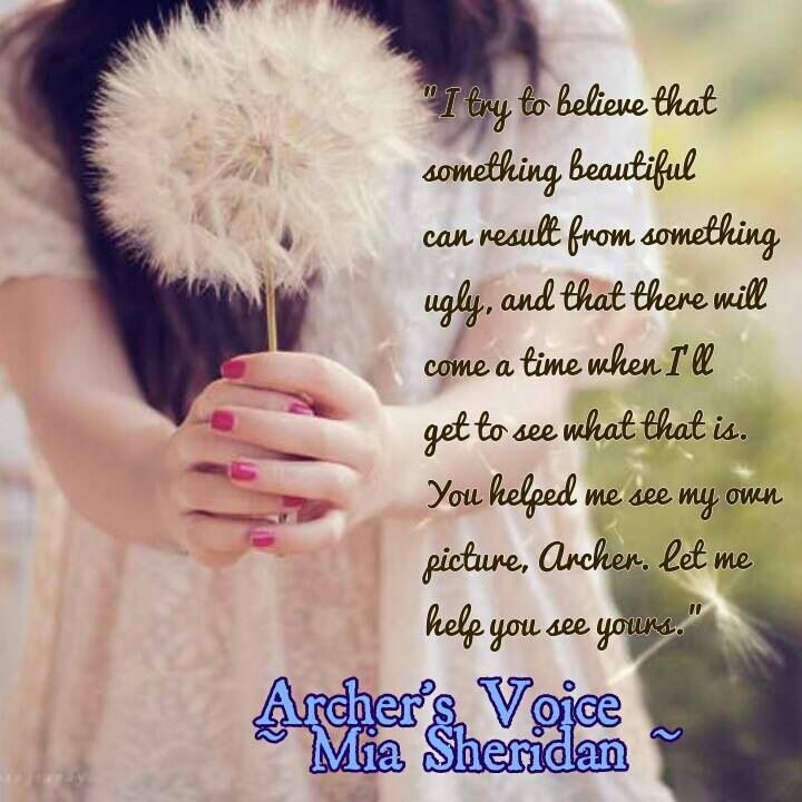 Let me help you see your picture - Archer's Voice, Mia Sheridan
