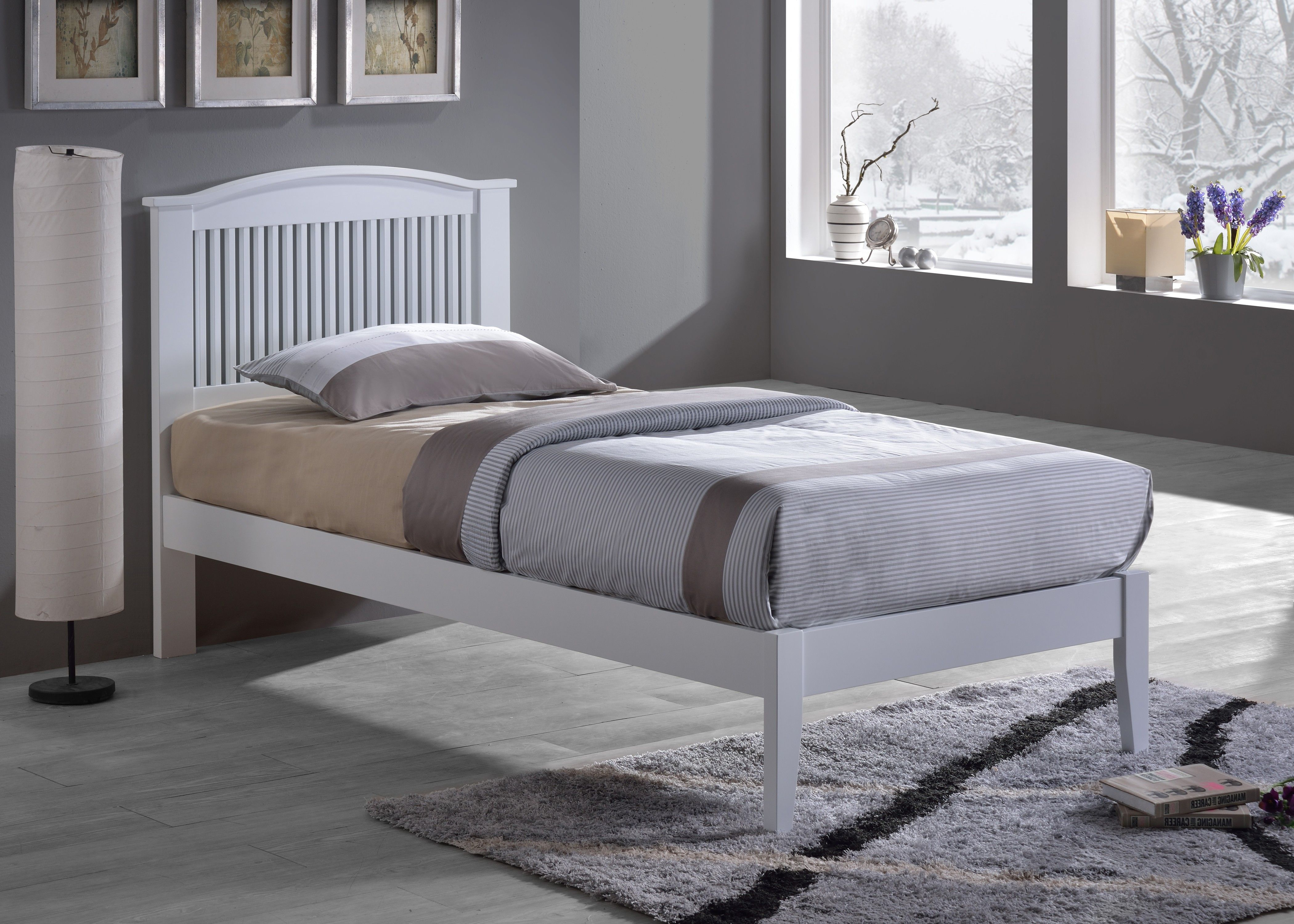 IQ Sierra White Single Bed (With images) Single bed