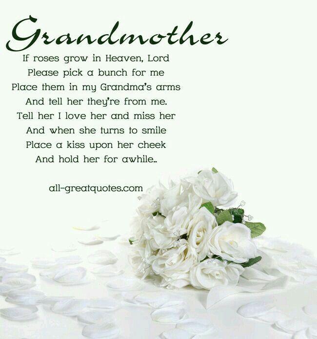 Grandmother In Heaven Grandparents Motherandgrandmothergifts Grandma Quotes Grandma Birthday Quotes Birthday In Heaven