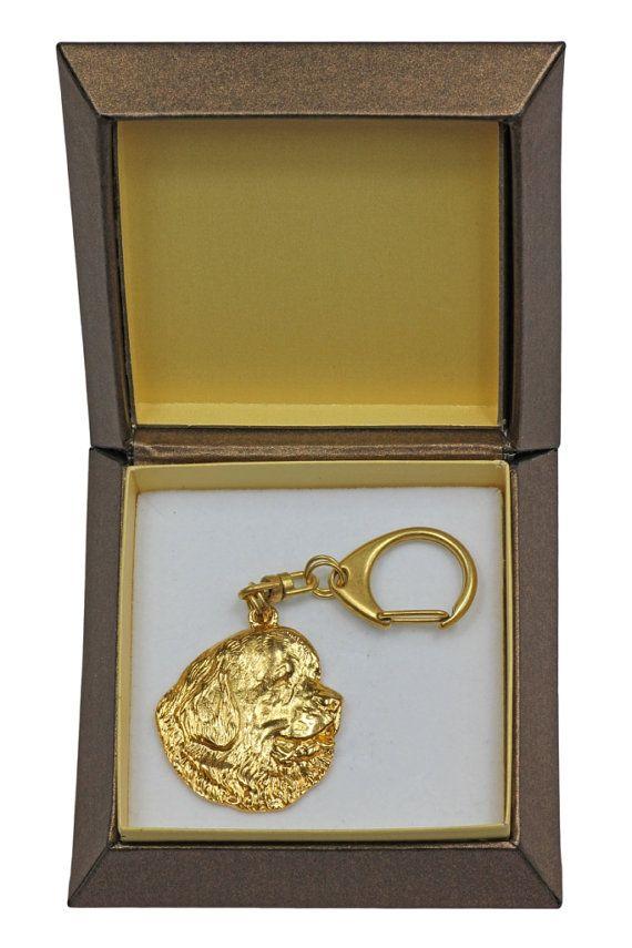 ArtDog limited edition dog keyring and necklace in casket Dog keyring for dog lovers NEW ELEGANCE set Bloodhound
