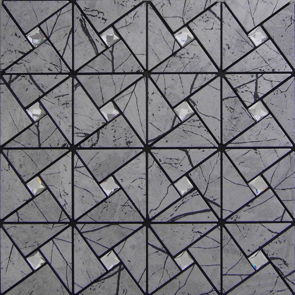Sheet size305mm305mm thickness4mm collectionmetallic wholesale metallic mosaic tile sheets aluminum mosaic tiles tiling kitchen designs crystal glass diamond all art tiles backsplash dailygadgetfo Choice Image