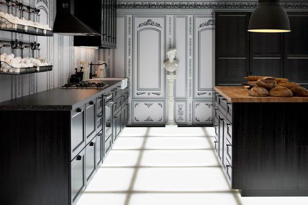 Ikea keuken zwart Metod