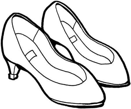 zapatos para colorear de mujer  Para colorear  Pinterest
