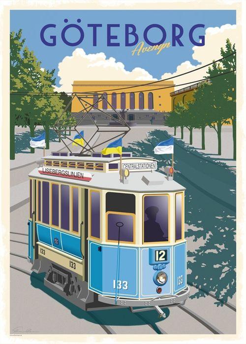 Goteborg Vintage Affischer Goteborg Gamla Foton
