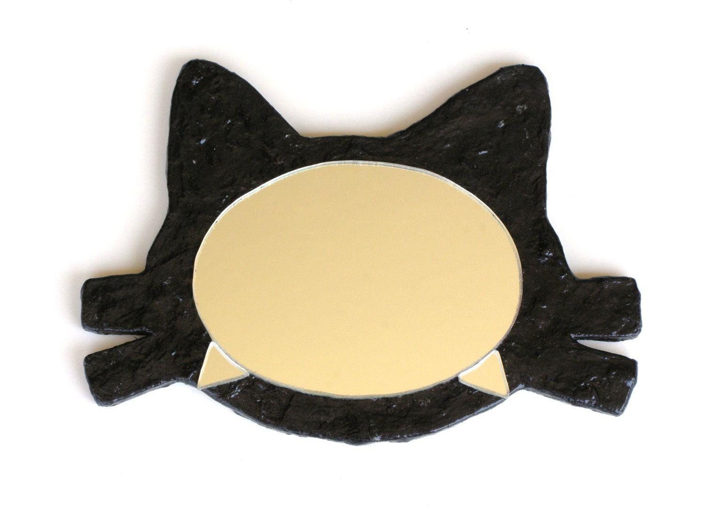 HALLOWEEN CAT MIRROR,Cat\'s Head Mirror No.8,Decorative Wall Mirror ...