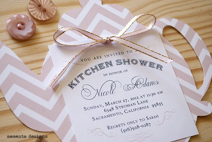 die cut teapot invitation blush pink kitchen tea ideas pinterest