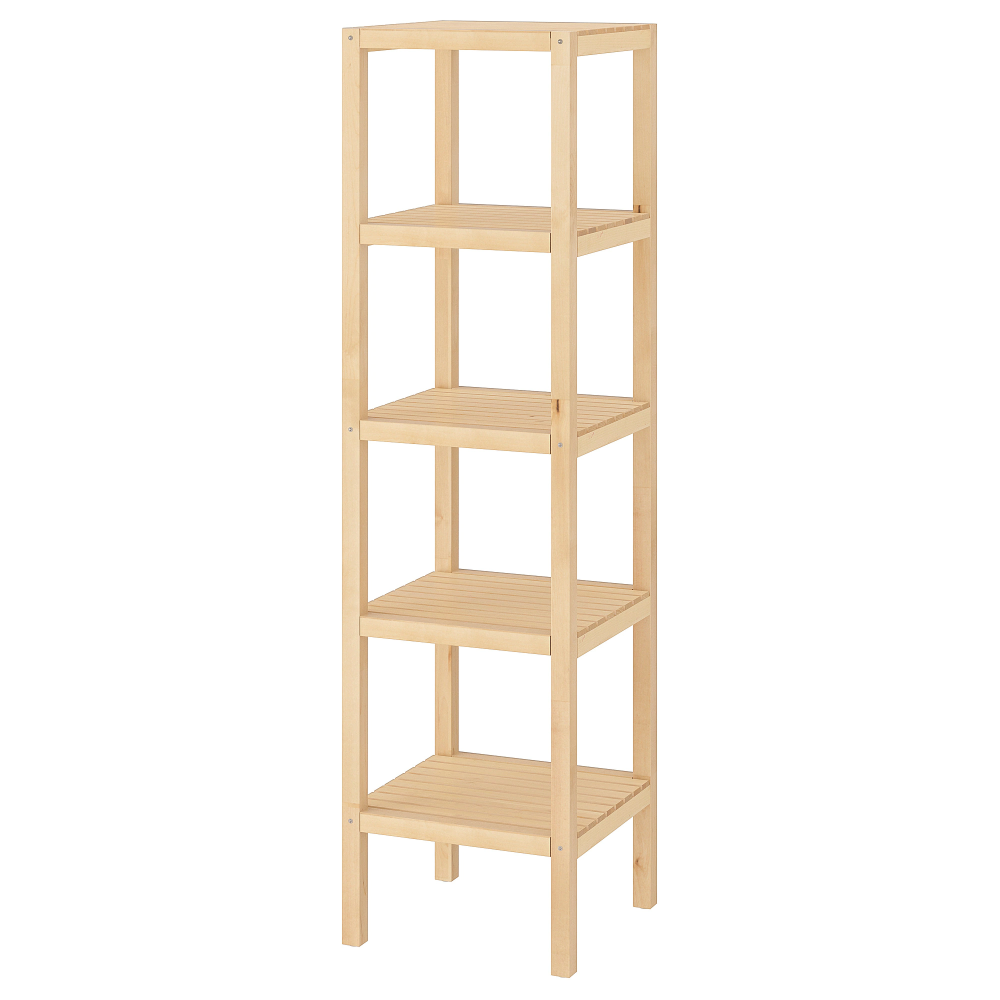 Molger Shelf Unit Birch 14 5 8x55 1 8 Ikea Estanteria Abedul