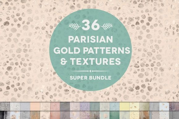 36 Parisian Patterns & Textures by Blixa 6 Studios on Creative Market