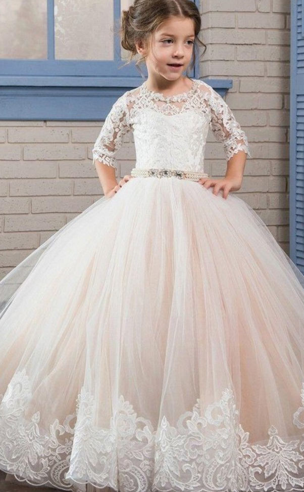 aad3664c238 Pale Pink Flower Girl Dress
