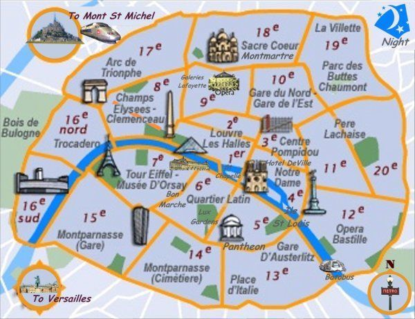 Cartography Image Iconography From The City Of Lights Paris By