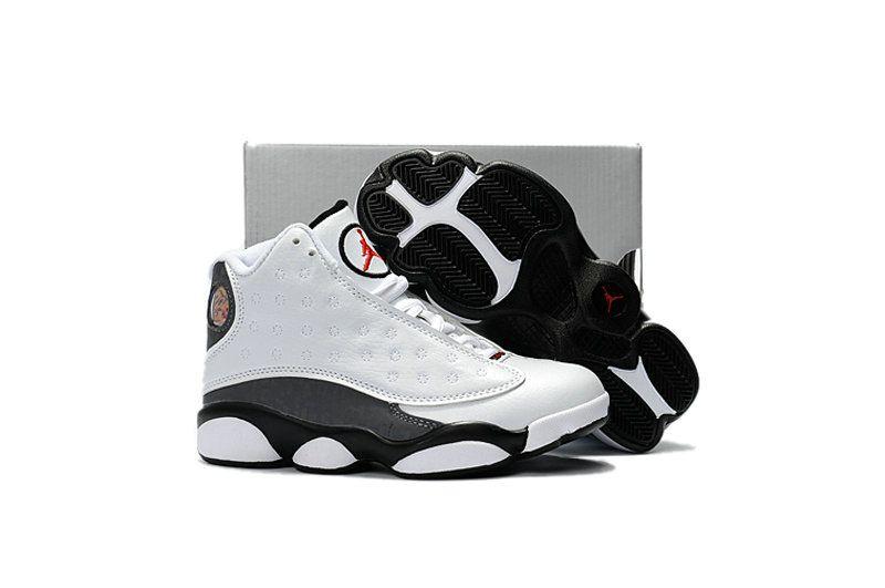 Kids Air Jordan 13 Retro Sngl Day Love And Respect White Black-Black Gym Red ecc599ae2ba4