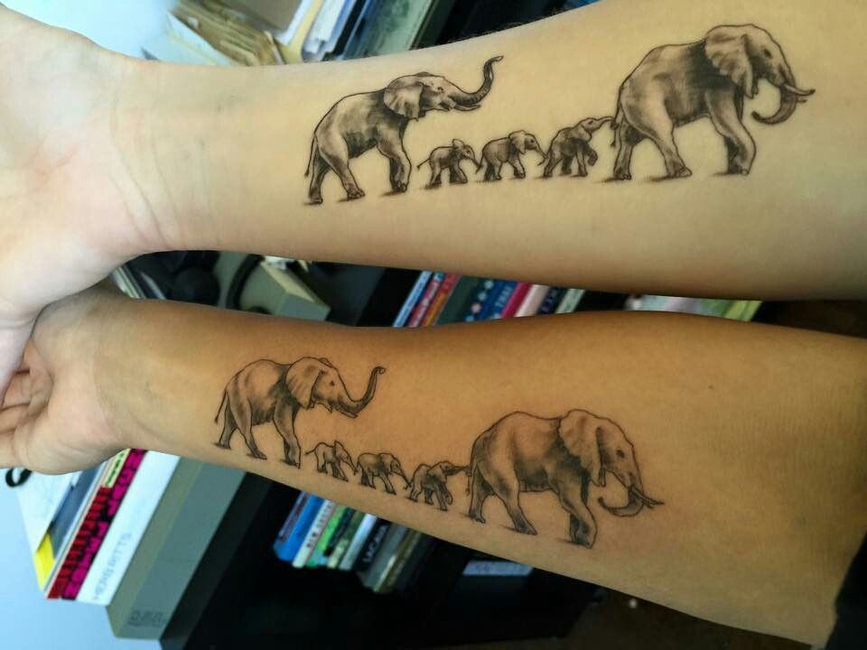 Elephant family tattoo tatto pinterest inspiraci n y for Elephant tattoo meaning family