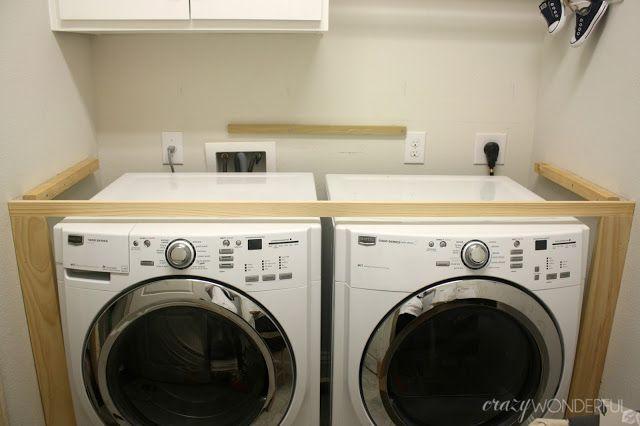 DIY built in washer dryer ideas and storage Pinterest Washer