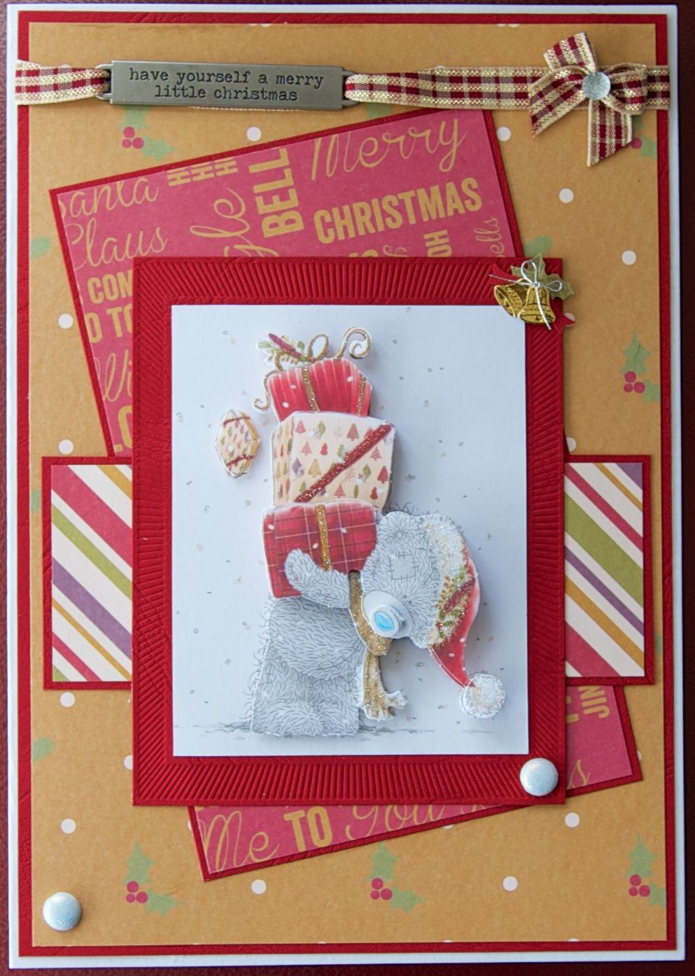 Christmas card 2014: Trimcraft Me To You papers and decoupage; Tim ...
