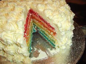 Dairy Free Rainbow Cake by Feminist Cupcakes