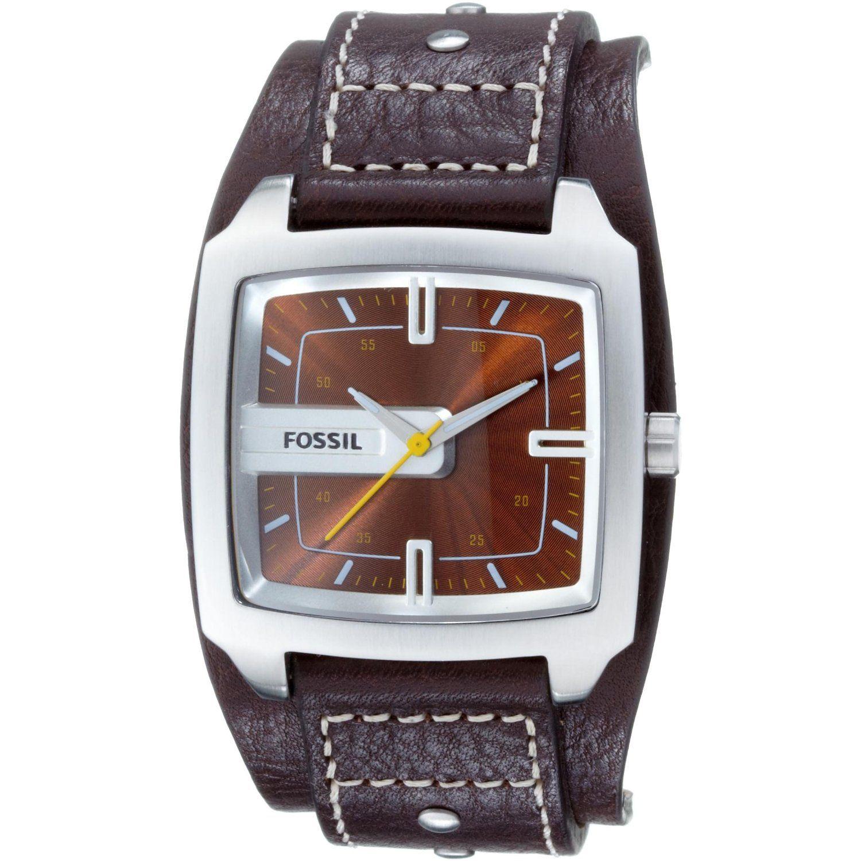 fossil herren armbanduhr analog leder braun trend jr9990. Black Bedroom Furniture Sets. Home Design Ideas