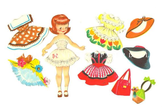 1940's Hallmark Vintage paper doll taken from by Sweetsweetribbons, $15.00