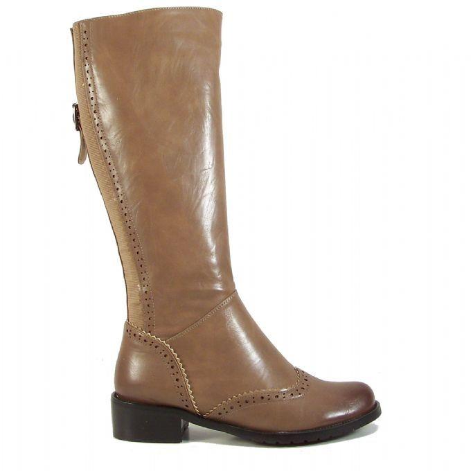 Kadin Cizme Kahverengi Deri Bayan Cizme Riding Boots Boots Shoes