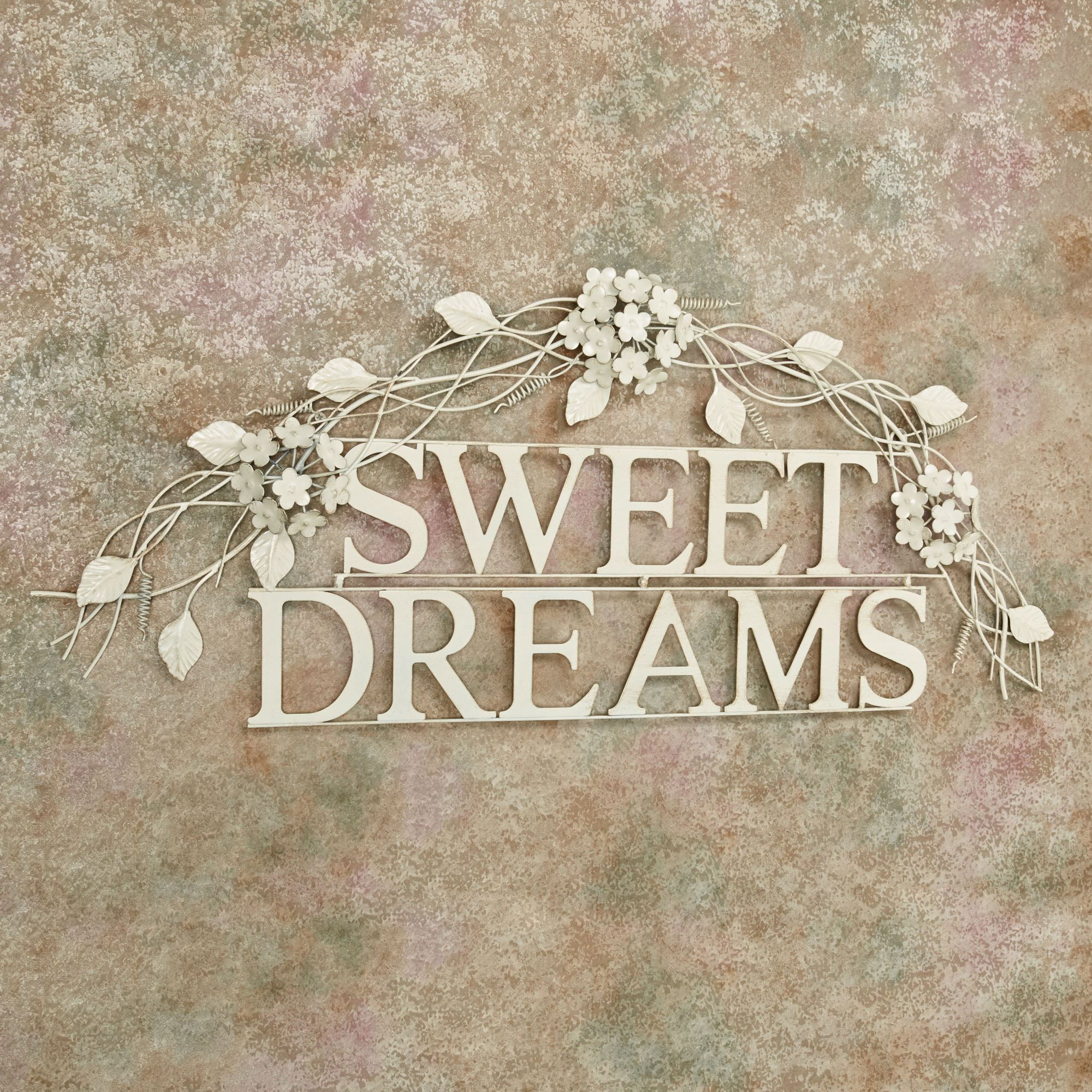 sweet dreams creamy gold metal word wall art in 2020 on sweet dreams for your home plants decoration precautions and options id=32778