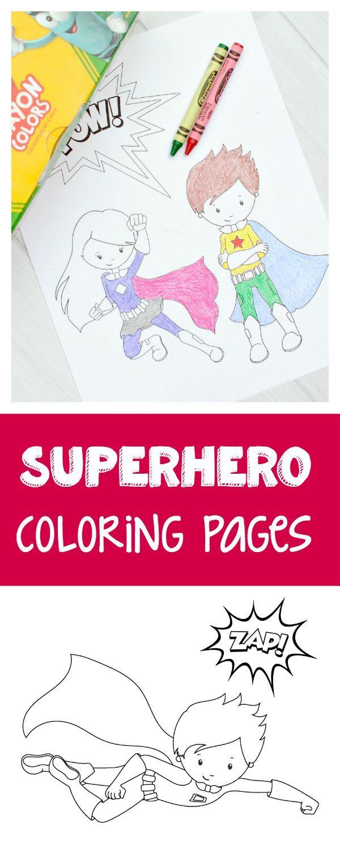 Free Printable Superhero Coloring Sheets for Kids   Kids ...