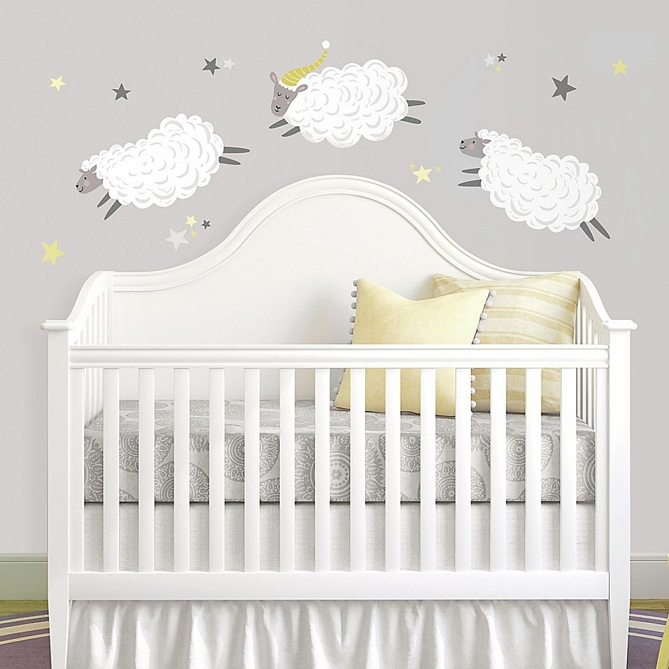 Roommates Counting Sheep Peel And Stick Wall Decal
