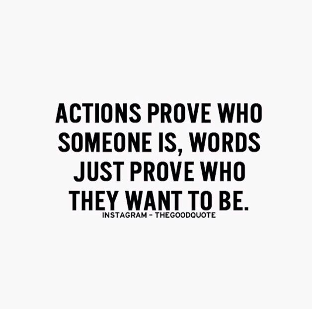 Actions v words