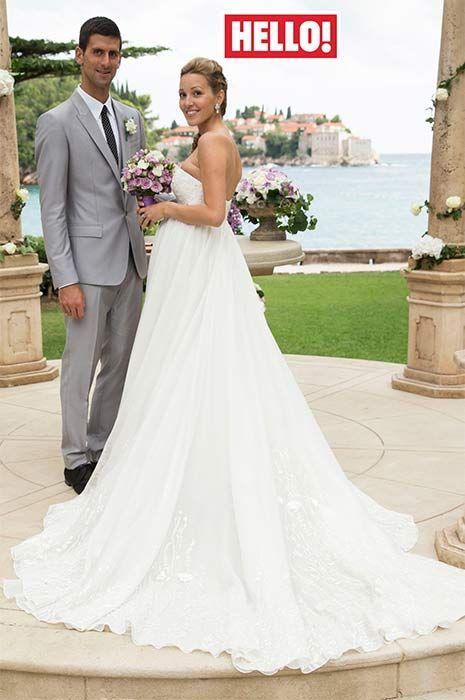 New Picture Released Of Novak Djokovic And Jelena Ristic S Stunning Wedding Tennis Wedding Glamourous Wedding Dress Jelena Djokovic