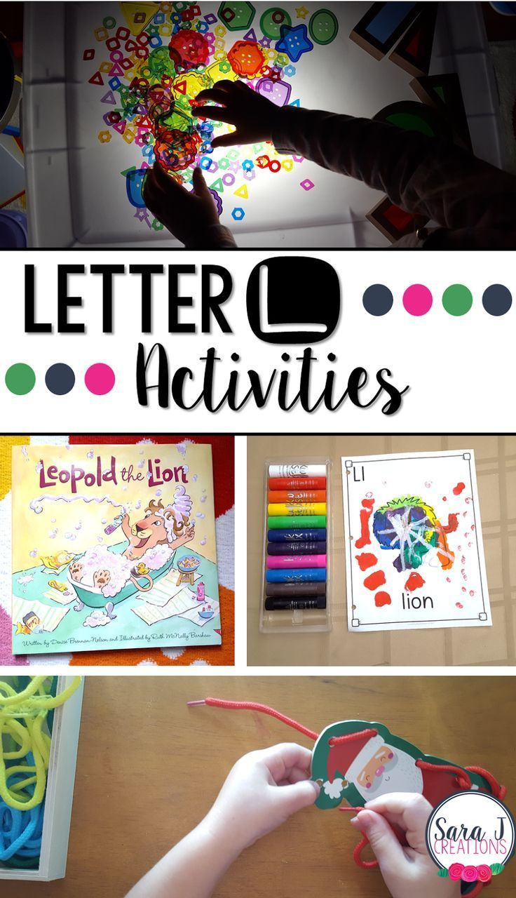 Letter L Activities that would be perfect for preschool or kindergarten. Art, fine motor, literacy and alphabet practice all rolled into Letter L fun. #literacy #alphabet #preschool