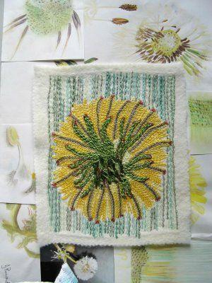 embroidered dandelion....