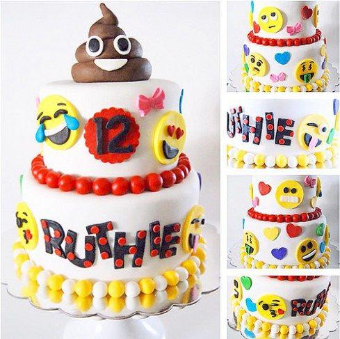 pasteles de emojis tortas de emoticones para cumpleaos