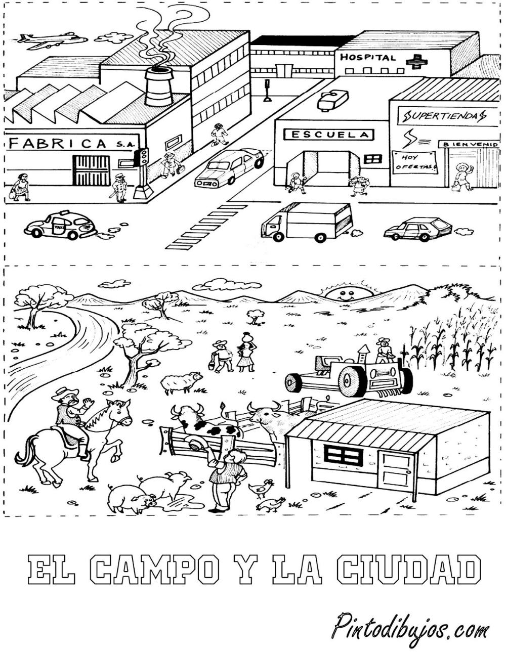 Diferencia Entre La Ciudad Y El Campo Para Ninos Dibujo Busqueda De Google Personal Calendar Calendar Pictures Marketing Calendar Template