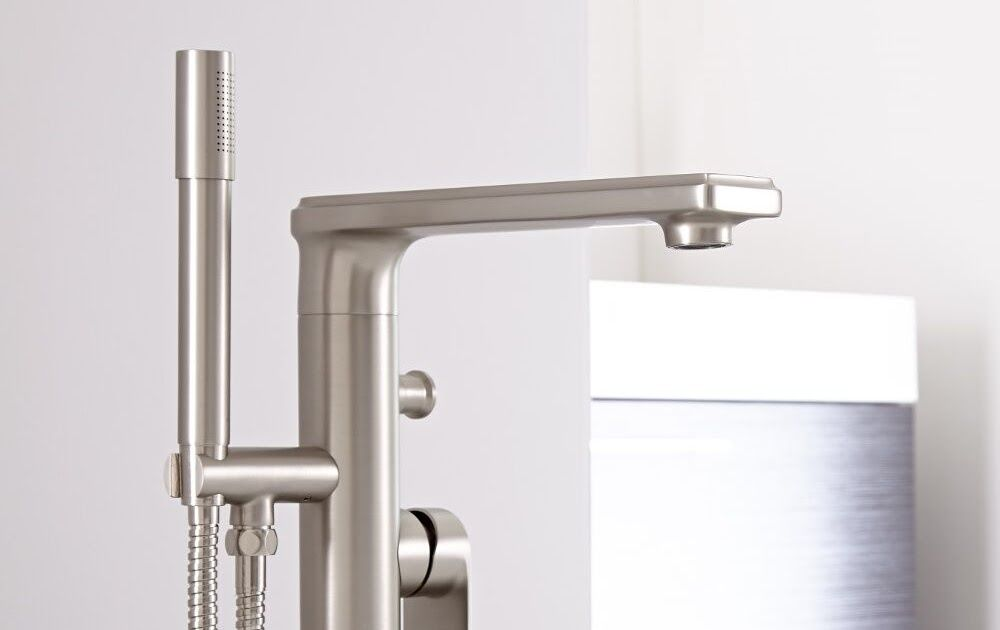 Cleaning Nickel Faucets Eclipse Brushed Nickel Modern Freestanding