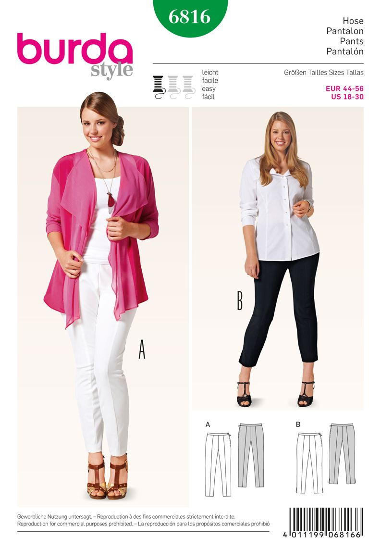 B6816 Simplicity Creative Group - Burda Style Plus to size 60 (34 ...