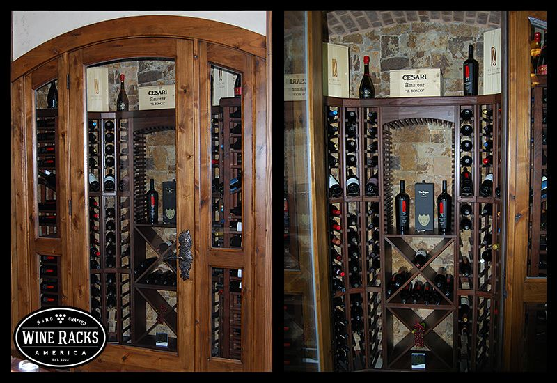 This wine cellar is proof that you can turn even the for Turn closet into wine cellar
