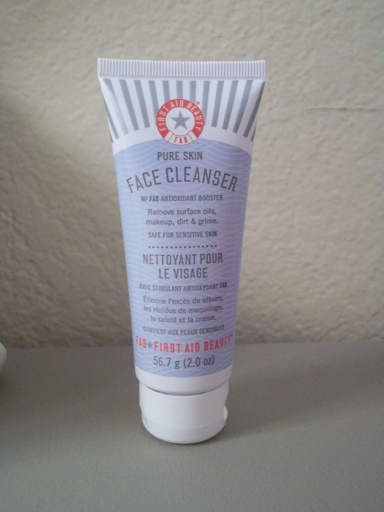First Aid Beauty Face Cleanser With Fab Antioxidant Booster 2 0 Oz New Sealed Firstaidbeauty Face Cleanser First Aid Beauty Cleanser