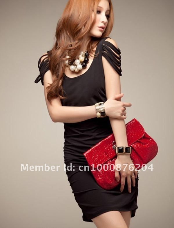 pictures of items the color black | 2012 New Style High Quality With Bowknot Rhinestone Tight Dresses ...